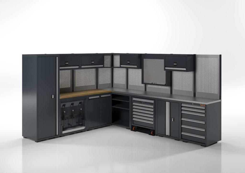 arredamento angolare completo per officina meccanica