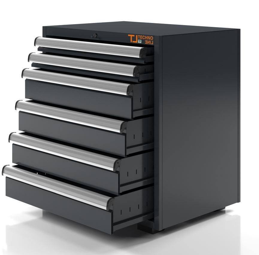 modulo cassettiera officina 6 cassetti